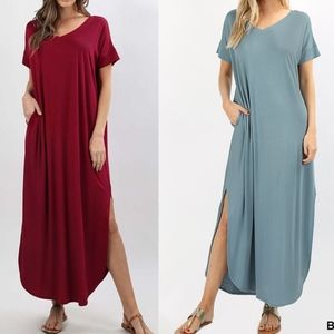 CHARLIZE solid boho dress - 2 colors